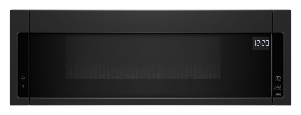 1.1 cu. ft. Low Profile Over the Range Microwave in Black