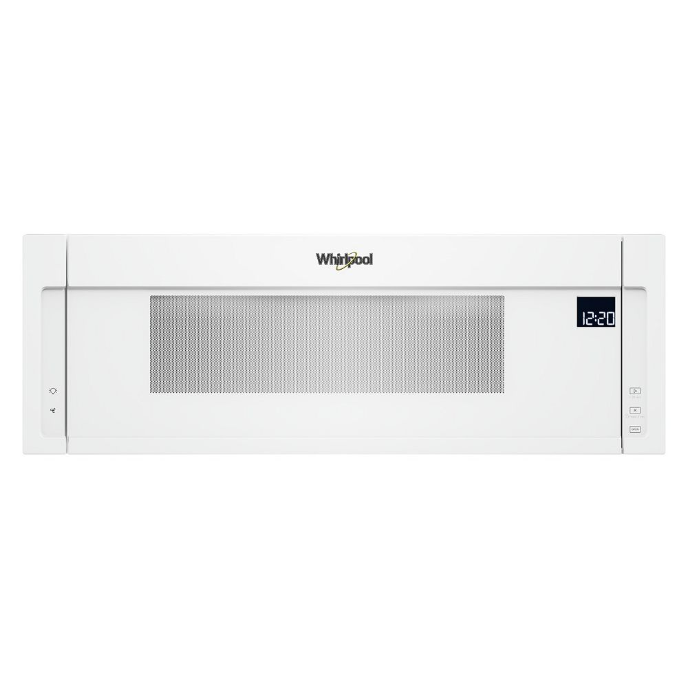 Whirlpool 1.1 cu. ft. Low Profile Over the Range Microwave in White