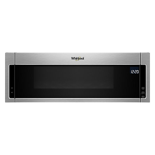 1.1 cu. ft. Low Profile Over the Range Microwave in Fingerprint Resistant Stainless Steel