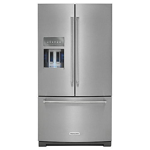 36-inch W 27 cu. ft. French Door Refrigerator in PrintShield Stainless Steel