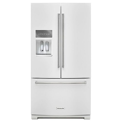 KitchenAid 36-inch W 27 cu. ft. French Door Refrigerator in White
