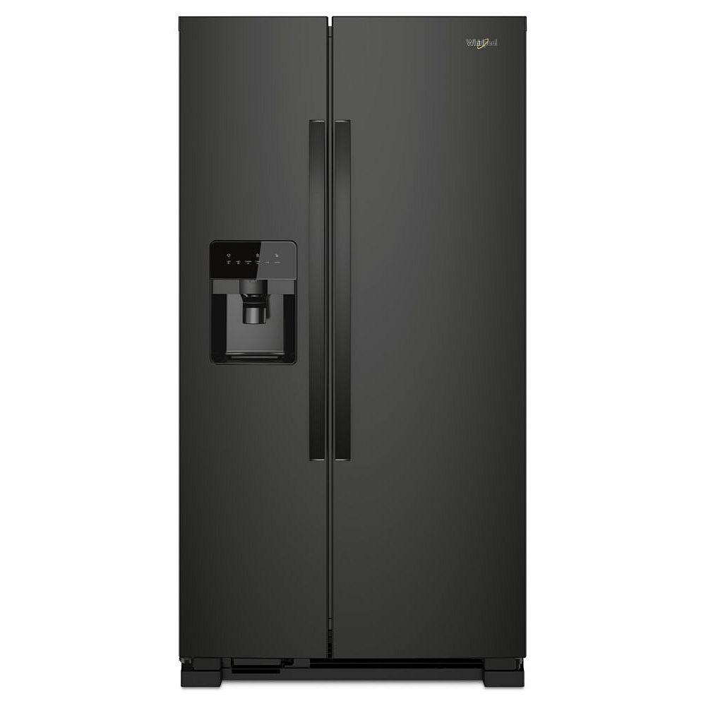 Whirlpool 33-inch W 21 cu. ft. Side-by-Side Refrigerator in Black