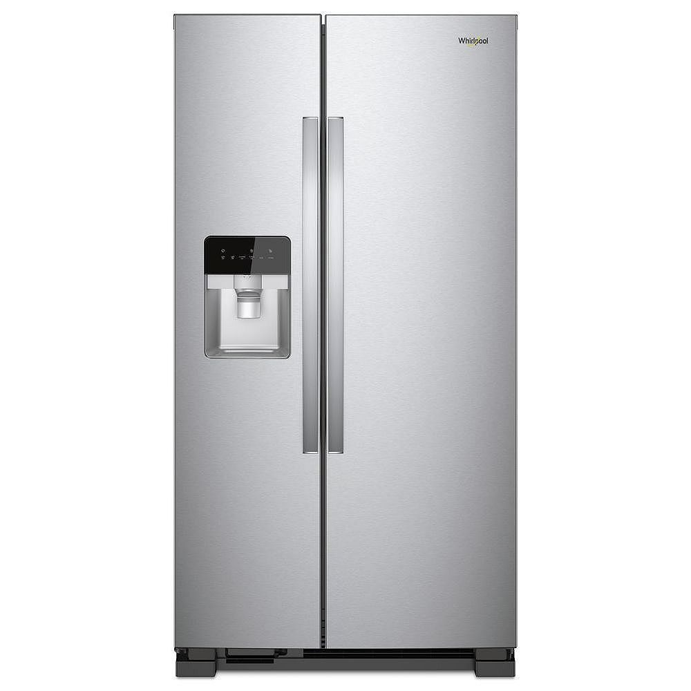 Whirlpool 33-inch W 21 cu. ft. Side-by-Side Refrigerator in Stainless Steel