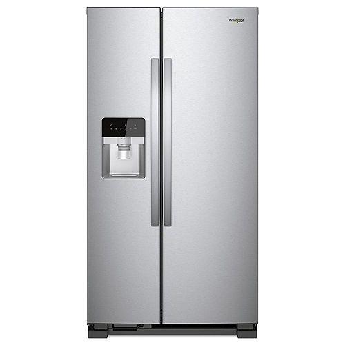 Réfrigérateur côte à côte W 21 pi. cu. 33 po en acier inoxydable