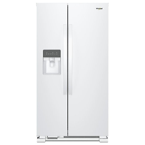 33-inch W 21 cu. ft. Side-by-Side Refrigerator in White