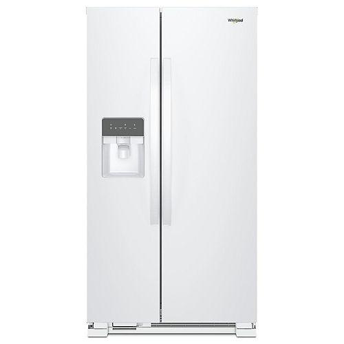33-inch W 21 cu. ft. Side-by-Side Refrigerator in White