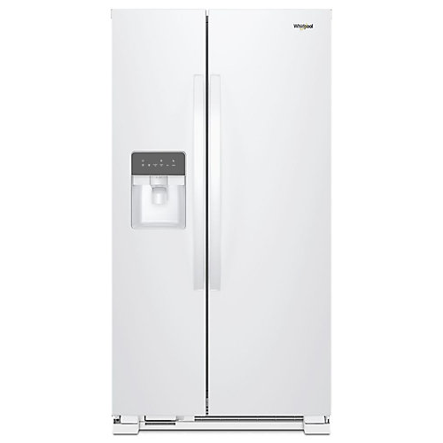 36-inch W 25 cu. ft. Side-by-Side Refrigerator in White