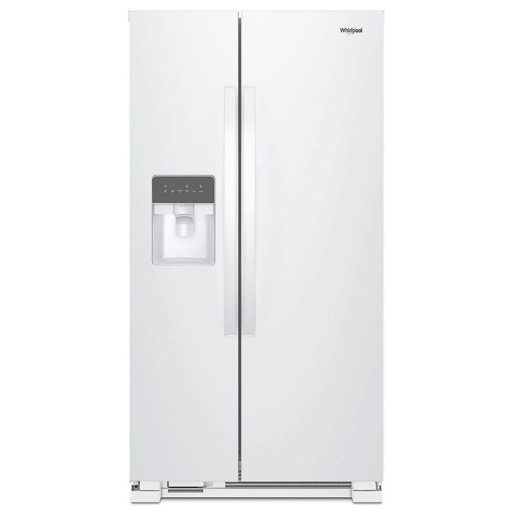 Whirlpool 36-inch W 25 cu. ft. Side-by-Side Refrigerator in White