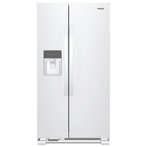 36-inch W 25 cu. ft. Side-by-Side Refrigerator in White