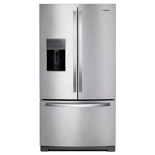 36-inch W 27 cu. ft. French Door Refrigerator in Fingerprint Resistant Stainless Steel