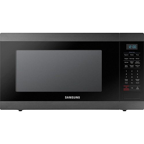 1.9 cu. ft. Countertop Microwave in Black Stainless Steel with Sensor Cooking