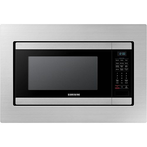 29.8-inch Trim Kit Countertop Microwave in Stainless Steel