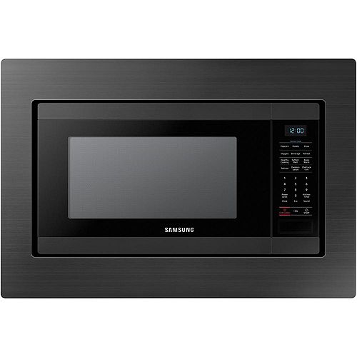 29.8-inch Trim Kit Countertop Microwave in Black Stainless Steel