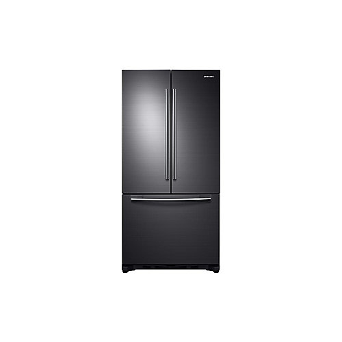 32.1-inch W 17.5 cu. ft. French Door Refrigerator in Black Stainless Steel, Counter Depth