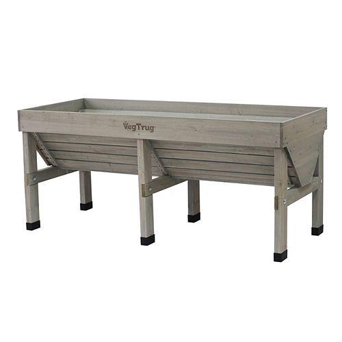 Grey Wash Classic Raised Garden Bed Planter - Medium
