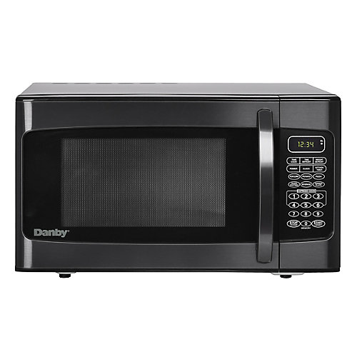 1.1 cu. ft. Countertop Microwave in Black Stainless