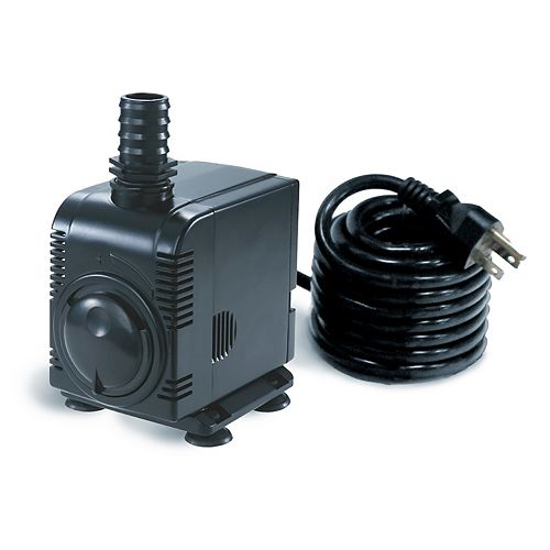Angelo Décor 1000gph Fountain / Pond Pump with Adjustable Flow, Pump Jacket Filter, 15-foot Cord