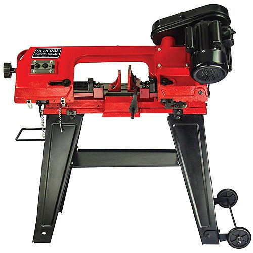 General International 4.5 inch 5A Metal Cutting Band Saw With Stand
