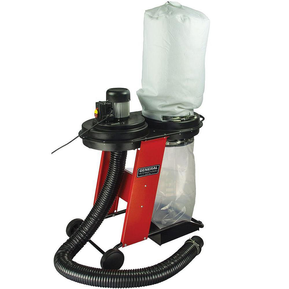 General International Portable 17 Gallon Dust Collector System With Wheels