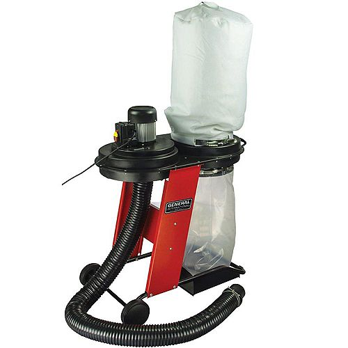 Portable 17 Gallon Dust Collector System With Wheels