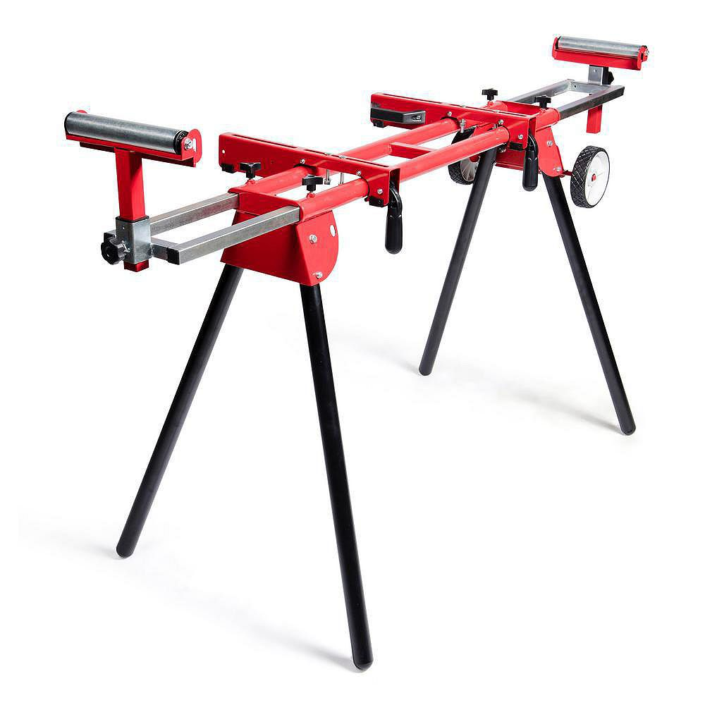 General International Miter Saw Stand With Solid 8 inch Tires