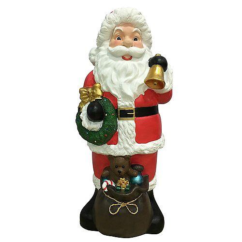 Figurine de Père Noël moulée par soufflage, 36 po