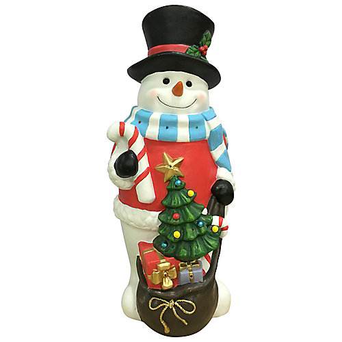 36-inch Snowman Figure with Multi-Colour LED Lights
