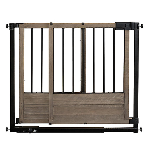 Rustic Home Sliding Barn Door Style Safety Gate