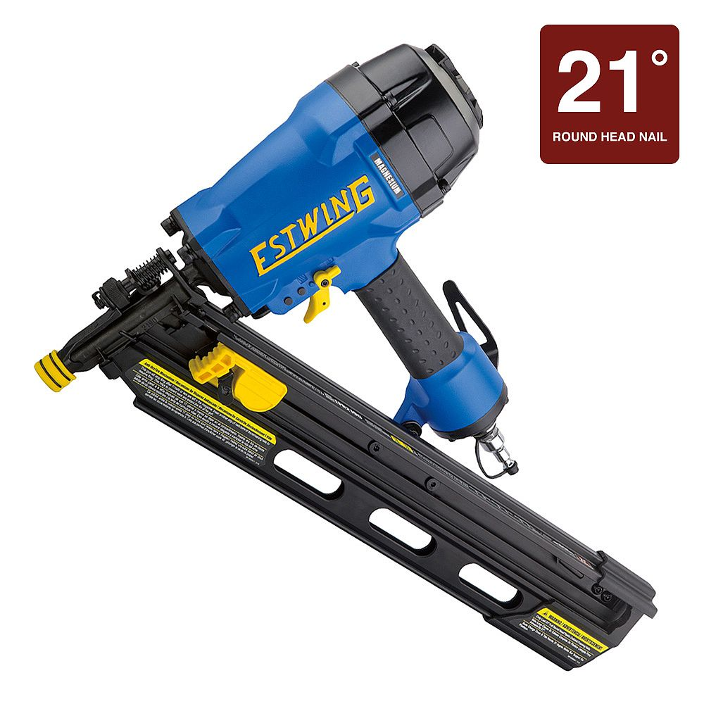 Estwing Pneumatic 21° Full Head Framing Nailer with Padded Bag