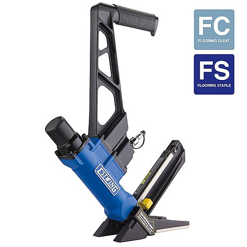 Estwing Pneumatic 2-inch-1 16-Gauge L Cleat or 15.5-Gauge Flooring Nailer/Stapler