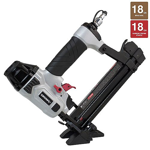 Husky Pneumatic 4-in-1 18-Gauge 1-5/8-inch Mini Flooring Nailer and Stapler