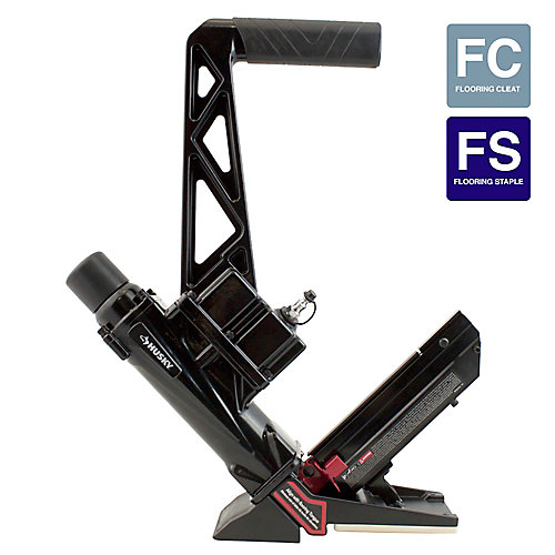Pneumatic 16-Gauge Flooring Nailer/Stapler
