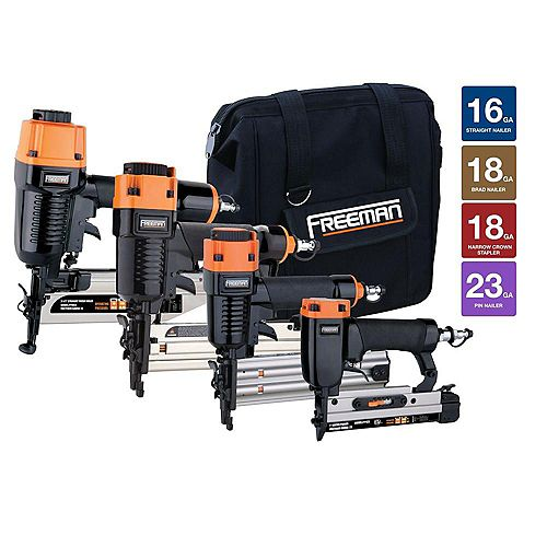 Freeman Nailer Kit with Canvas Bag (4-Piece)