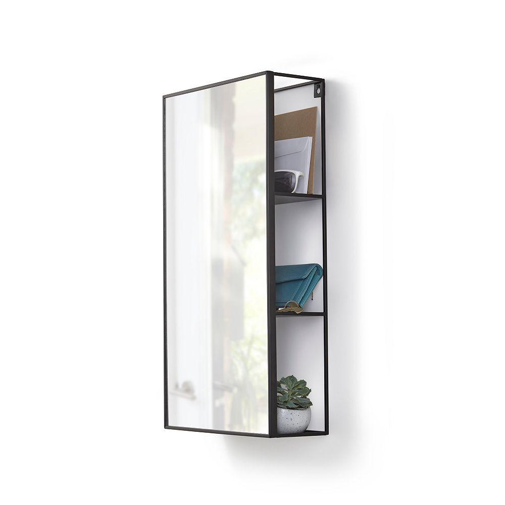 Umbra Cubiko Mirror and Storage Unit in Black
