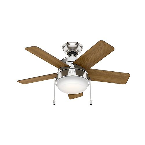 Tarrant 36 inch LED Indoor Brushed Nickel Ceiling Fan
