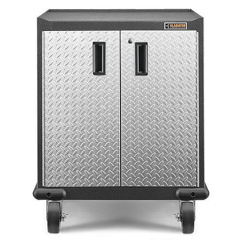 Gladiator Premier Series GearBox 35-inch H x 28-inch W x 25-inch D Steel 2-Door Rolling Garage Cabinet in White