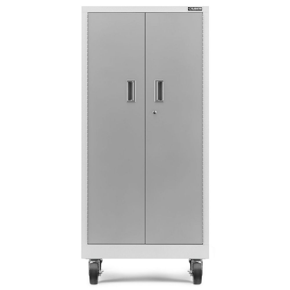 Gladiator Premier Series 66-inch H x 30-inch W x 18-inch D Steel Rolling Garage Cabinet in White