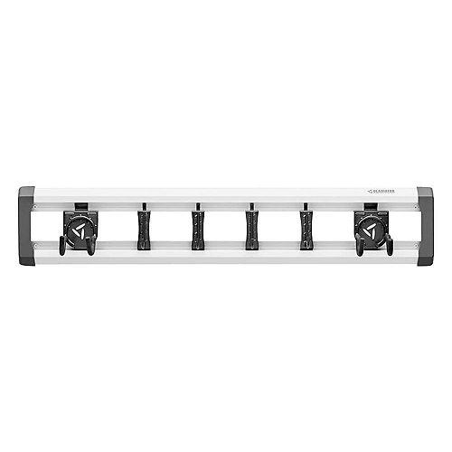 Gladiator GearTrack 32-inch L Garage Track Storage System with 6-Hooks
