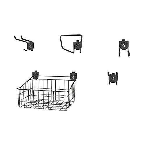 Garage Wall Storage Accessory Starter Kit 1 for GearTrack or GearWall