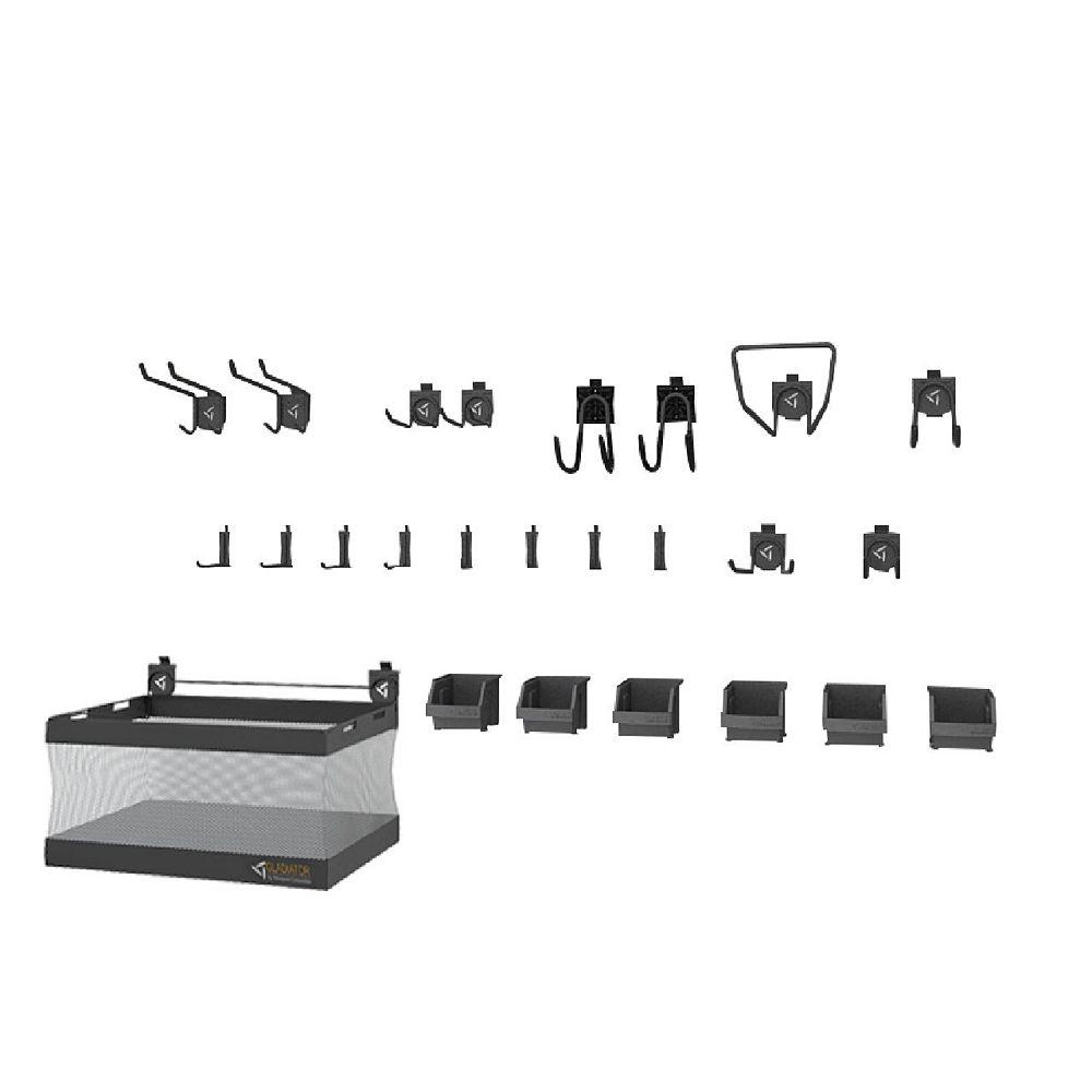 Gladiator GearTrack and GearWall Garage Hook Accessory Kit 2