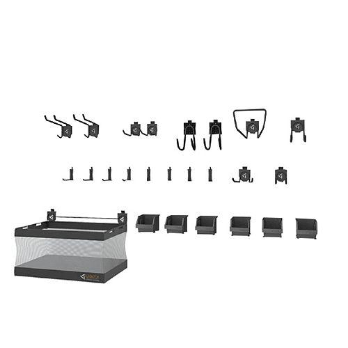 Kit d'accessoires pour crochets de garage GearTrack et GearWall 2