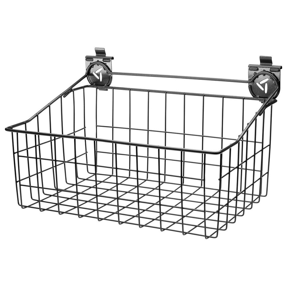 Gladiator 18-inch W x 12-inch D Ventilated Wire Basket Garage Storage for GearTrack or GearWall