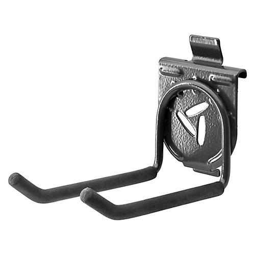 4.25-inch H x 2.75-inch W x 6.5-inch D Twin Hook for GearTrack or GearWall