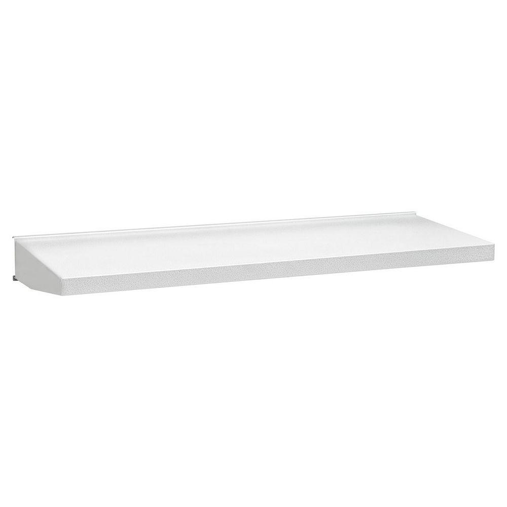 Gladiator Premier Series 30-inch W x 12-inch D Steel Garage Shelf in White