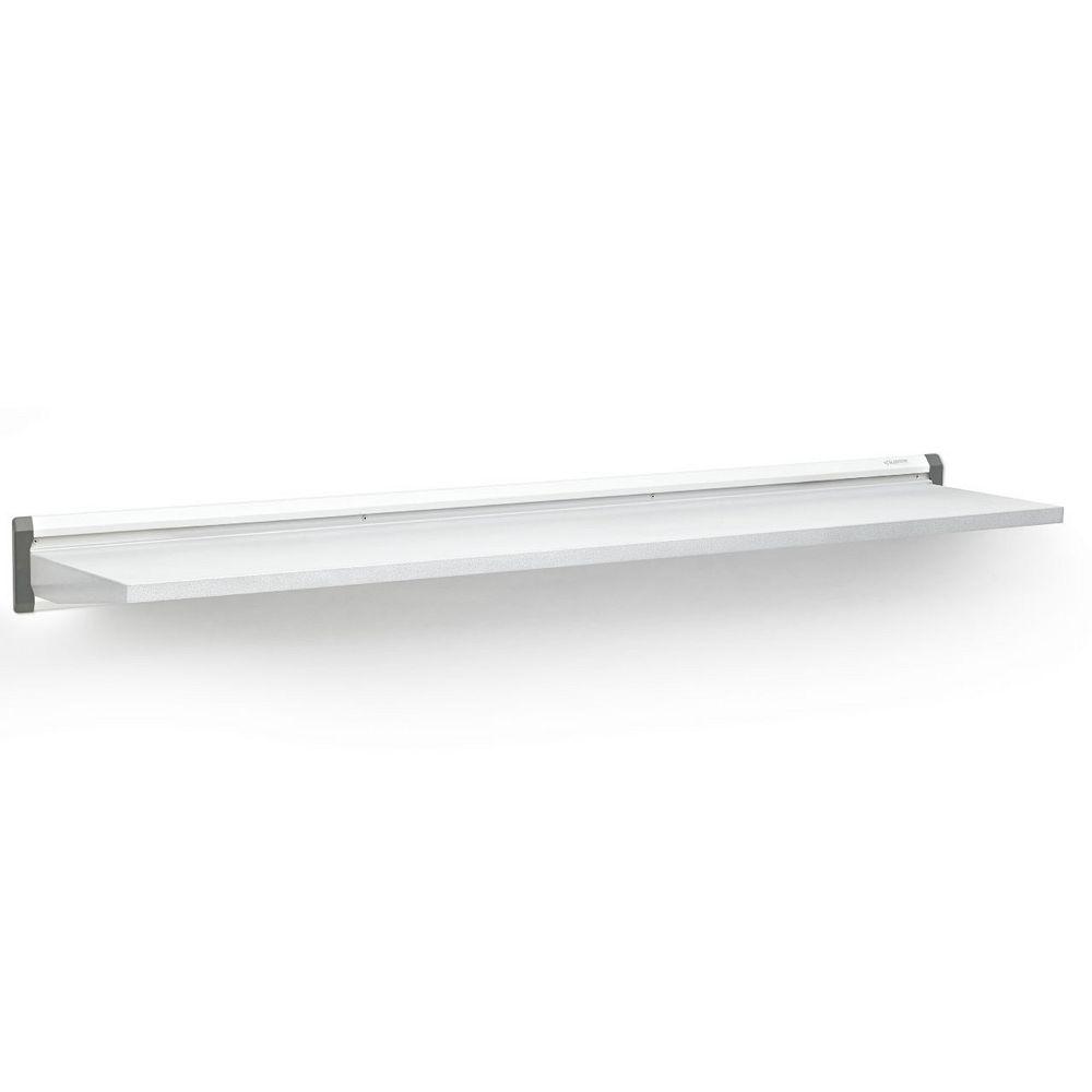 Gladiator Tablette de garage en acier 48 po L x 12 po D de la série Premier en blanc