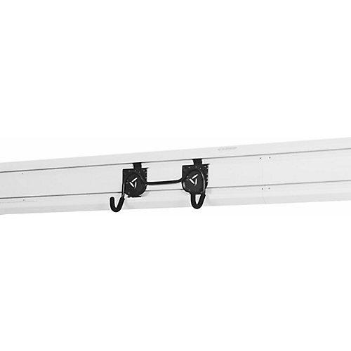 5.75-inch H x 10.75-inch W x 2.75-inch D Dual Wheelbarrow Hook