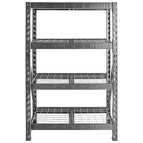 48-inch Heavy Duty Rack Shelving in Hammered Granite