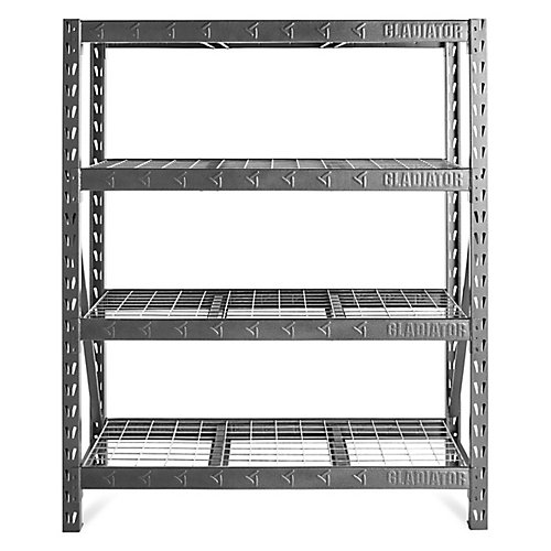 60-inch Heavy Duty Rack Shelving in Hammered Granite