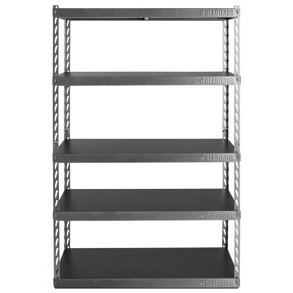 Gladiator EZ Connect 48-inch W Rack with Five 18-inch D Shelves in Hammered Granite