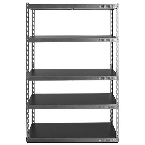 EZ Connect 48-inch W Rack with Five 18-inch D Shelves in Hammered Granite